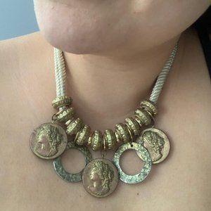 Vintage Boho coin necklace choker